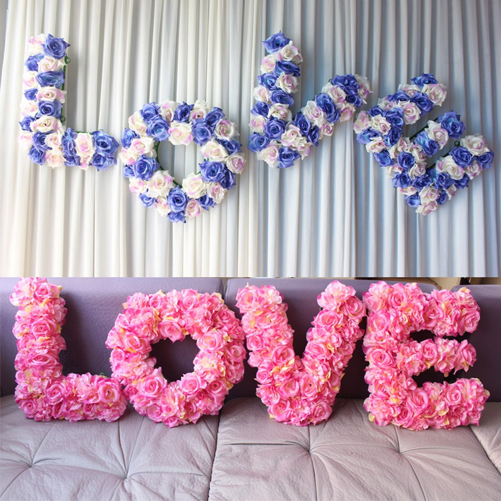 45 Piece 3d Large Artificial Flowers Set Wedding Props Silk Flower