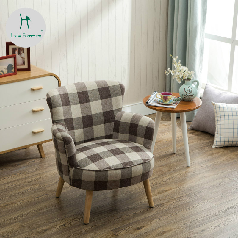 US $141.51 11% OFF|Louis Fashion Nordic Modern Simple Lazy Sofa Bedroom  Small Apartment Single Tiger Chair Living Room American Style Leisure-in ...