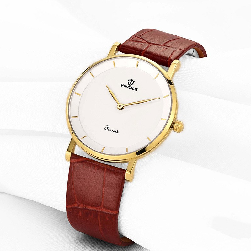 Hot Special Design VINOCE Quartz Watch Ladies Top Fashion Brand Women Leather Casual Dress Hour Female Waterproof Wrist Watches newly design dress ladies watches women leather analog clock women hour quartz wrist watch montre femme saat erkekler hot sale