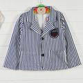 wholesale(5pcs/lot) -2016 spring autumn cotton blue&white striped blazer jacket for 2-7 child boy