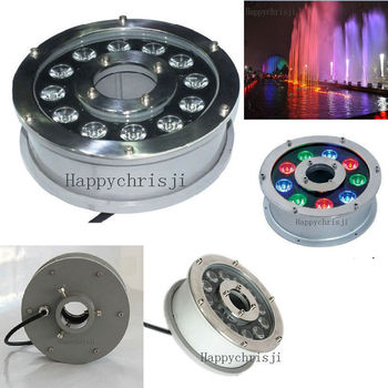 DC 24V LED Lamp 12W x1w Multi-Color(RGB) Colorful Fountain Submersible Light