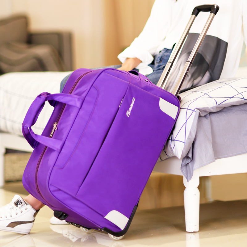 Trolley bag travel bag female hand luggage travel bag collapsible waterproof wheel to be produced bag large capacity