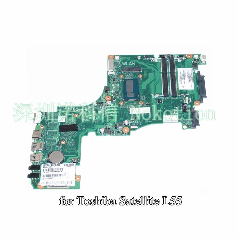 NOKOTION SPS v000318210 для Toshiba Satellite l55 l55 a материнская плата для ноутбука cr10st 6050a2556501 mb a02 sr16q i3 4010
