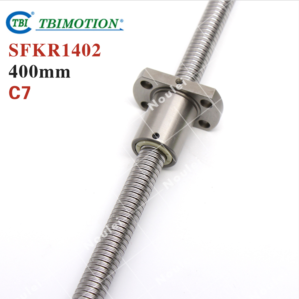 Taiwan TBI 1402 ball screw 400mm C7 2mm dia with SFK1402 nut miniature CNC 3d printer parts горелка tbi 240 3 м esg