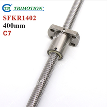 Taiwan TBI 1402 ball screw 400mm C7 2mm dia with SFK1402 nut miniature CNC 3d printer parts