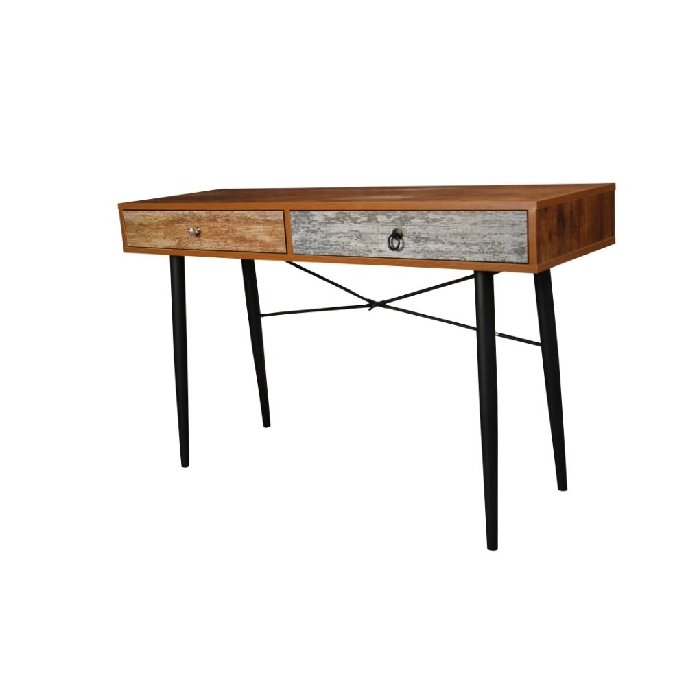 Antiqued 2 Drawer Table by Urban Port brown foldable storage ottoman by urban port