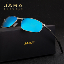 JARA Fashion Polarized Men Sunglasses Sport Metal Frame New Style Streamlined Sun Glasses UV400 Driver Goggle Women Eyewear A395