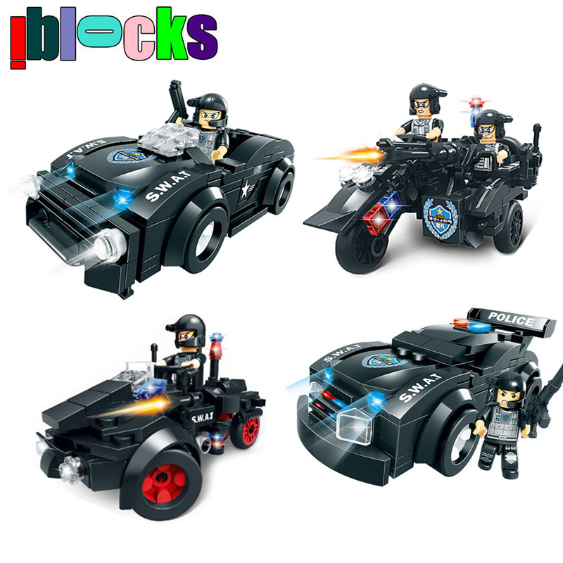 Military SWAT Models & Building Toy Boy Hobby City Police Figures and Car Bricks Blocks Educational Toys For Children tango tt6 120