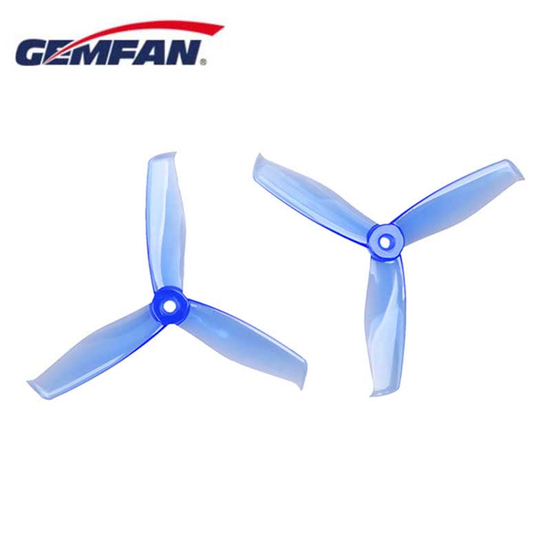 2 Pairs Gemfan Hulkie <font><b>5055</b></font> 3 Blade PC Propeller CW CCW For 2205-2306 Motor RC Model Multicopter Blue Yellow Red Black White image