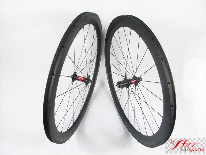 Farsports FSC50-CM-25 DT240(36 Ratchets) 700c bike bicycle full carbon fiber wheels clincher 50, road clincher bike wheels rim