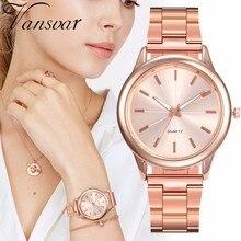 Women Rose Gold Steel Wrist Watches Fashion Luxury