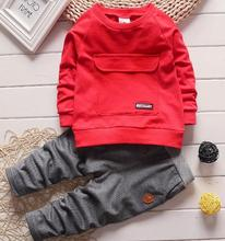 The boy sweater go well with autumn garments 2016 lengthy sleeved go well with for kids