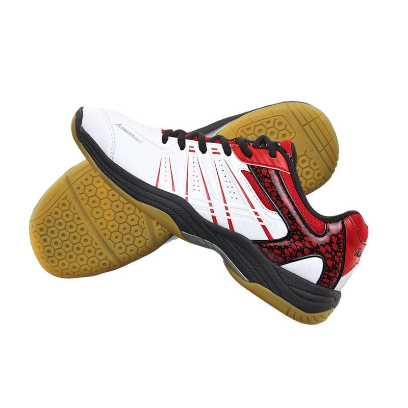 KAWASAKI Merek Profesional Sepatu Bulutangkis Hijau Lace Up Sneakers - Sepatu kets - Foto 6