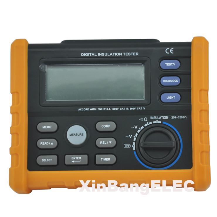 Testeur de résistance à l'isolation numérique megohmmètre mètre multimètre 250 V-2500 V