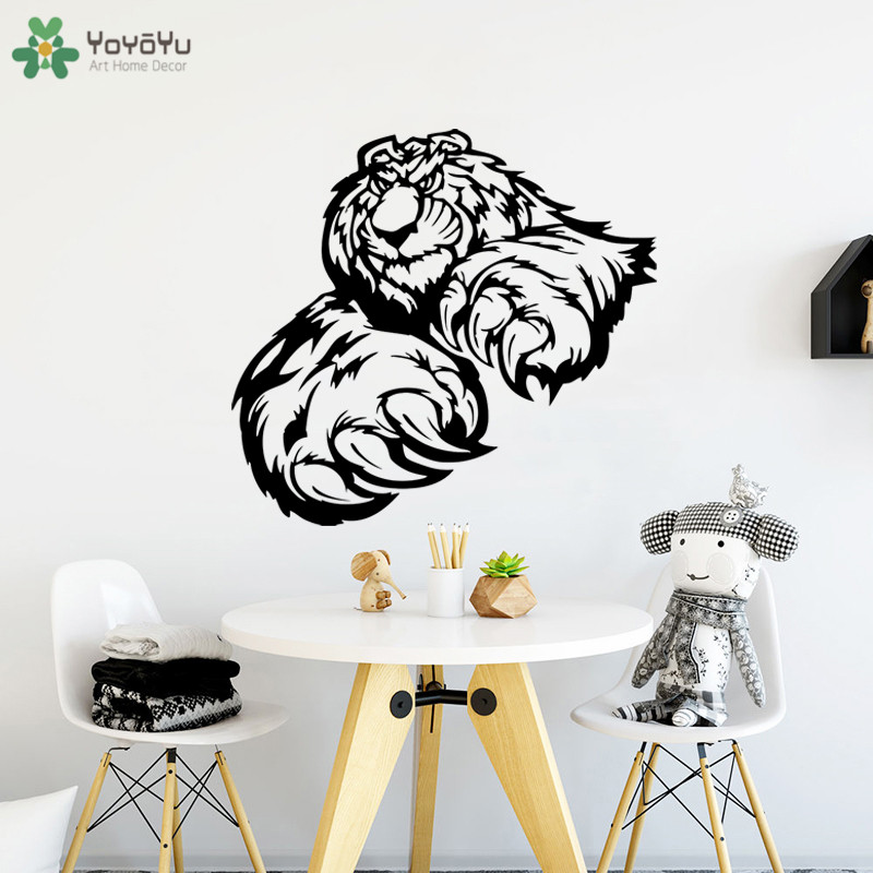 YOYOYU Wall Decal High Quality Bear Paws Claws Pattern Animal Wall Sticker Decals Creative Bedroom Decoration Cartoon DecorCT779