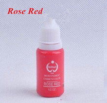 2 Piece Rose Red Tattoo Ink Set Permanent Makeup Pigment 15ml One Bottle BioTouch Pigment