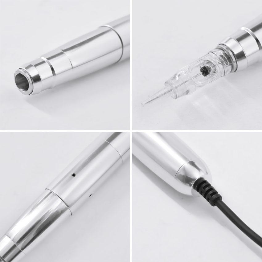 Image 4 - Tattoo Machine Professional New Design Micro Needle Silver Aluminum Swiss motor Permanent Makeup Machine for Eyebrow Tattoo-in Tattoo Guns from Beauty & Health