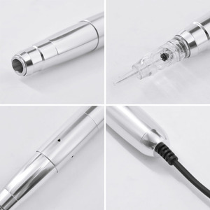 Image 4 - Tattoo Machine Professional New Design Micro Needle Silver Aluminum Swiss motor Permanent Makeup Machine for Eyebrow Tattoo