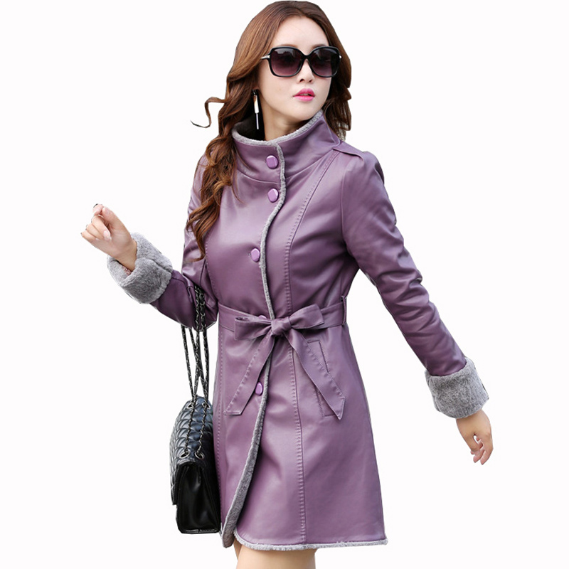 NEW 2018 Winter Women' Leather fur jacket Single-breasted slim fur coat faux sheepskin jaqueta feminina jaqueta de couro QH1063