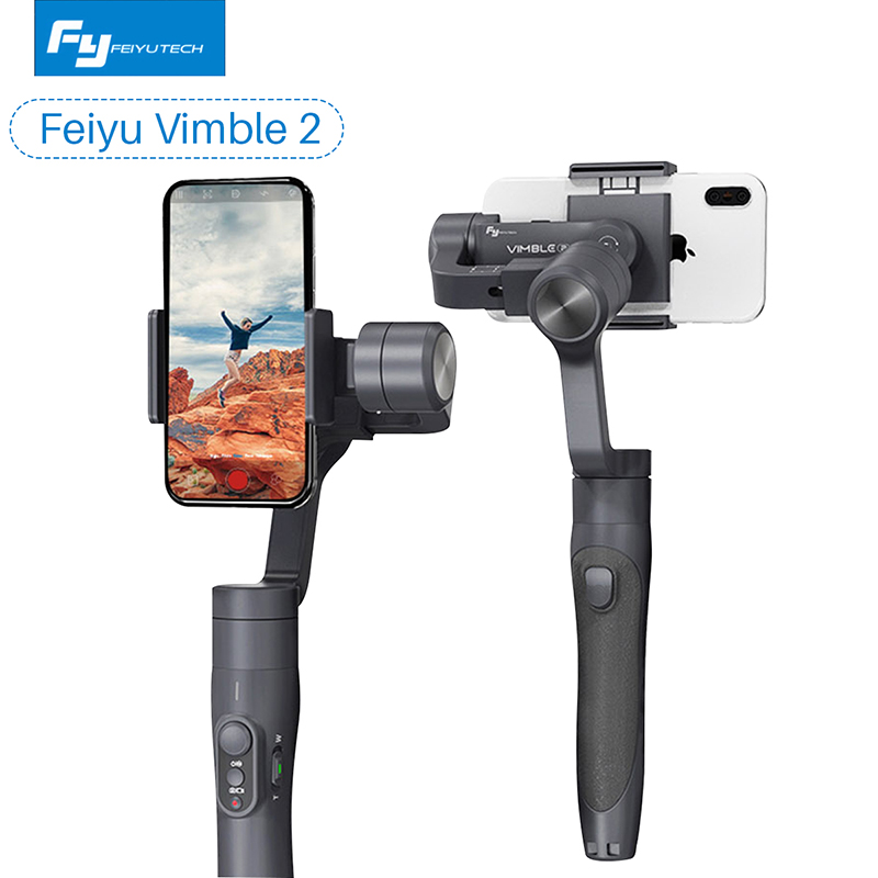 Feiyu Vimble 2 Выдвижная Ручной 3 оси Gimbal видео стабилизатор для iPhone samsung Gopro Xiaomi yi 4 К PK гладкая Q/гладкой 4