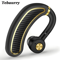 Tebaurry Business Bluetooth Earphone Wireless Headphone With Mic 24 Hours Work Time Bluetooth Headset For Phone