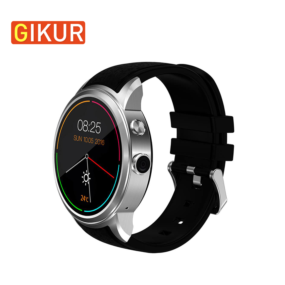 GIKUR X200 Smart Watch Bluetooth 4.0 WIFI Accurate GPS Smart Bracelet 3G MTK6580 Camera 2.0 Heart Rate Monitor Sport Wristwatch f2 smart watch accurate heart rate