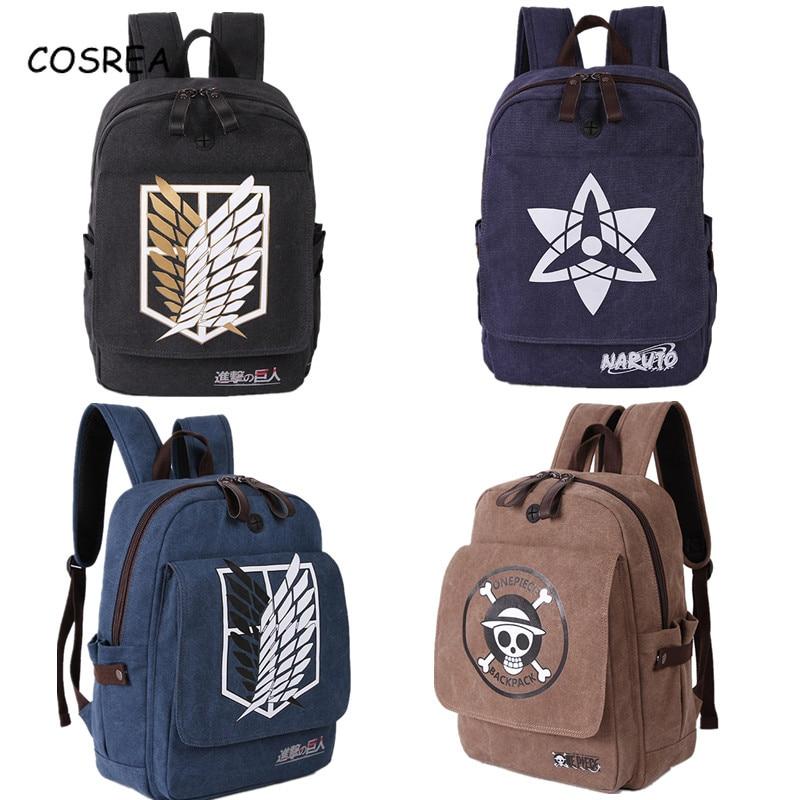 Anime Attack On Titan Shingeki No Kyojin Backpacks Bag School Backpack Costumes Men Women Knapsack Travel Bags For Teenagers