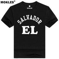 Сальвадор футболка DIY Бесплатная изготовление под заказ имя номер slv футболка нации испанский Республика Сальвадора SV Университет одежда