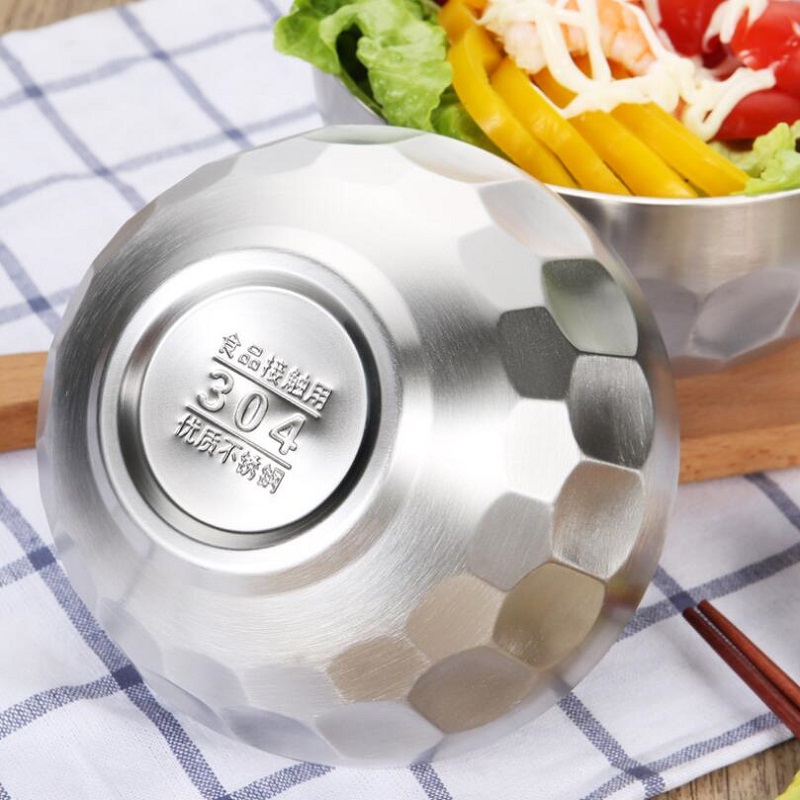304# stainless steel bowl double-layer Heatproof bowl Heat insulation Tableware good quality