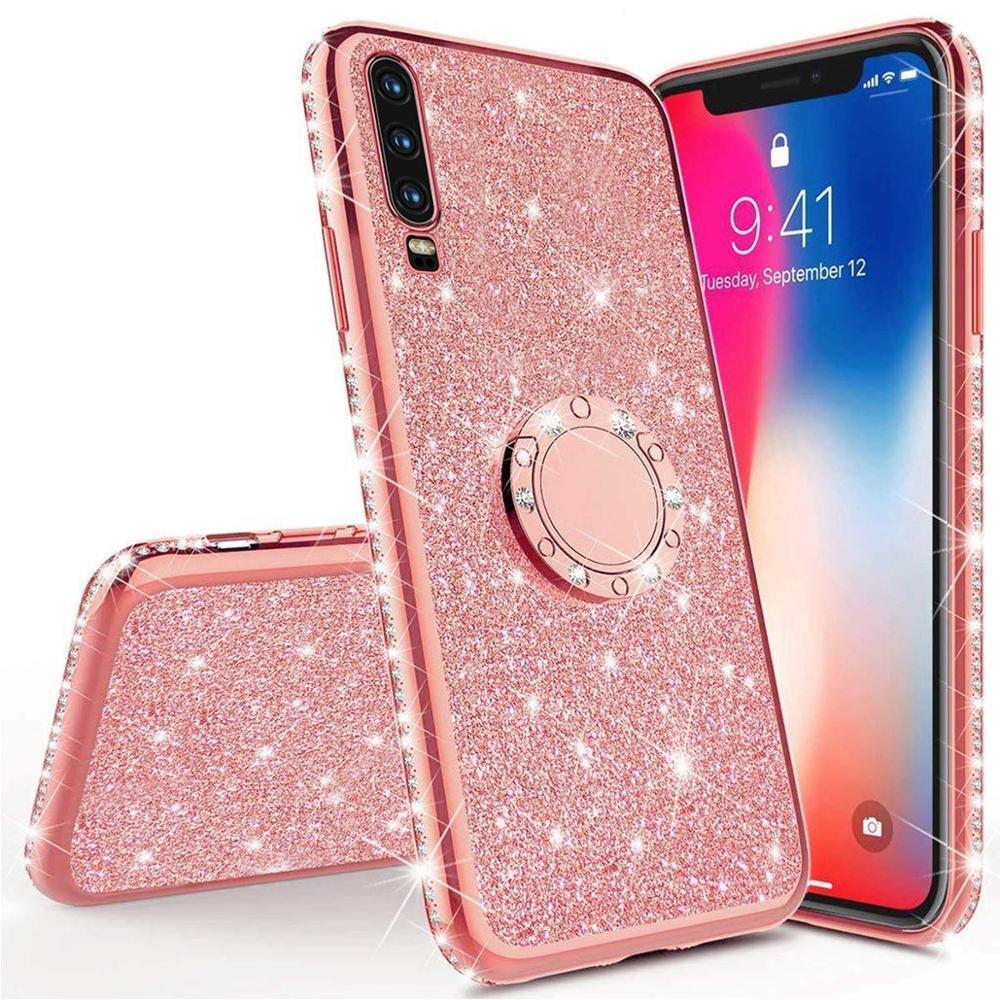 Diamond Case For Samsung Galaxy A70 A60 A50 A40 A30 A20 A10 A80 Cover For Samsung Galaxy M30 M20 M10 Glitter Ring Kickstand Case