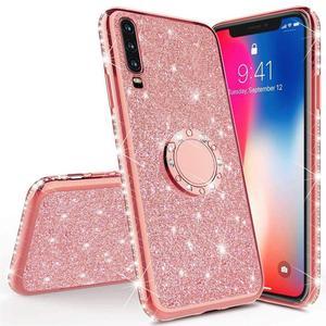 Diamond Case for Samsung Galaxy A70 A60 A50 A40 A30 A20 A10 A80 Cover For Samsung Galaxy A71 A51 M30 Glitter Ring Kickstand Case(China)