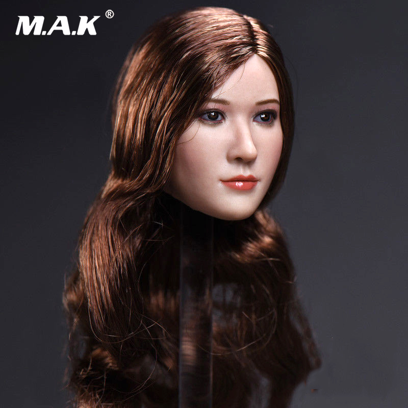 1/6 Scale T-06C Asia Girl Head Carving Liu Yifei Crystal Liu Head Mode Fit 12 HT CGL T-10 Female Suntan Colo Action Figure Doll 1 6 scale figure accessories doll female head for 12 action figure doll head shape fit phicne