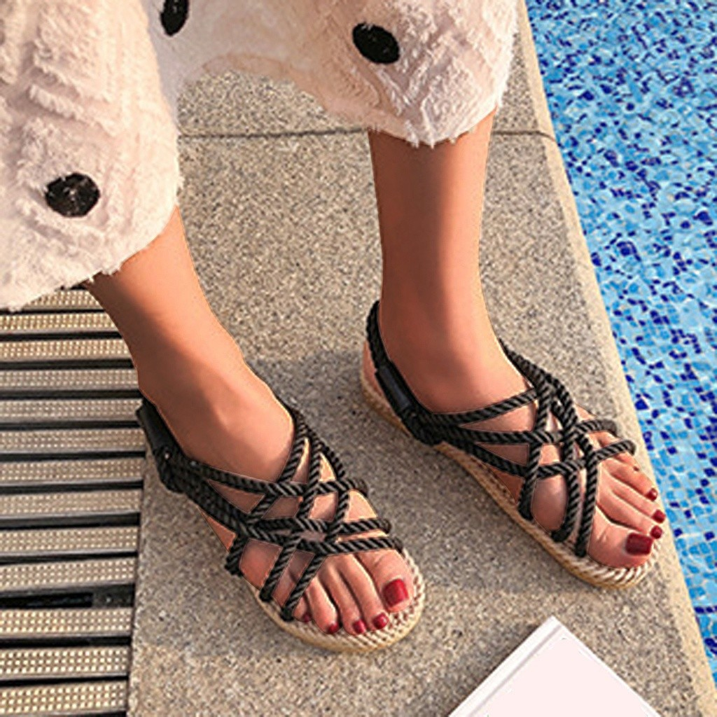 HTB1o0NddWWs3KVjSZFxq6yWUXXaL - SAGACE Sandals Woman Shoes Braided Rope With Traditional Casual Style And Simple Creativity Fashion Sandals Women Summer Shoes