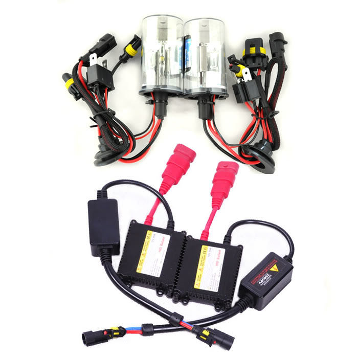 ФОТО 12V 35W H4-2 8000K Hid Xenon Bulbs kit Slim Ballasts Conversion Set [C150]