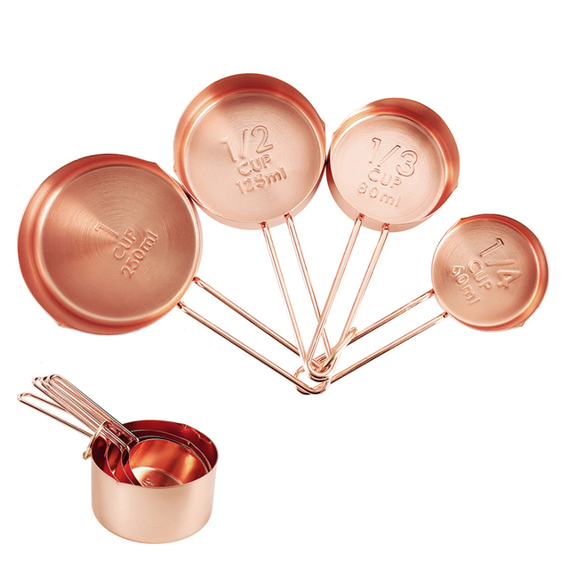 Kitchen Stainless Steel Measuring Cups 4 pcs Set