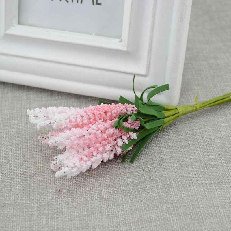 Nouveau mini livraison gratuite 10 pièces bricolage couronne matériel fleurs artificielles PE lavande mariage fleur décoration mariée poignet fleur