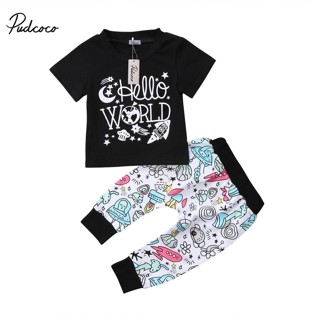 2pcs Newborn Infant Baby Boys Rabbit Outfit T-shirt Tops+Pants Clothes Set 0-24M