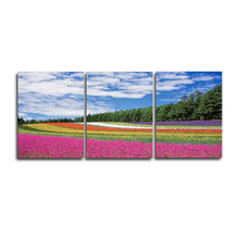 Laeacco Canvas Painting Calligraphy Abstract 3 Panel Garden Posters and Prints Wall Art Pictures for Living Room Bedroom Decor