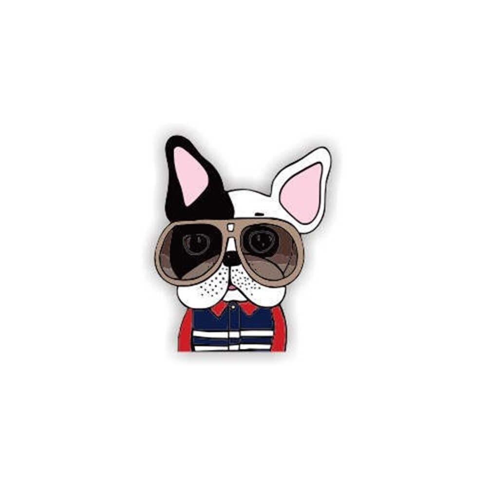 Akrilik Brocade Hewan Pin Anjing Bros Kartun Bros untuk Wanita Pin Lencana Fashion Gaun Mantel Aksesoris Perhiasan