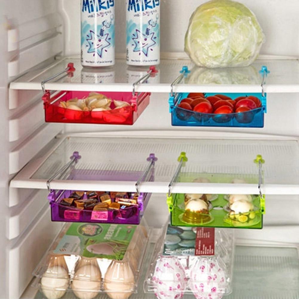 6878eed68 الثلاجة الثلاجة رف الطعام حلوى صينية درج المنظم صناديق التخزين اللوح ...