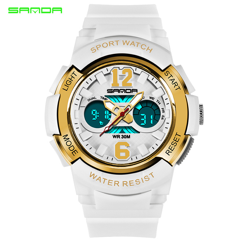 SANDA New Children's Watches Outdoor Sports Children Boys And Girls LED Digital Watch Waterproof Children's Sports Watch