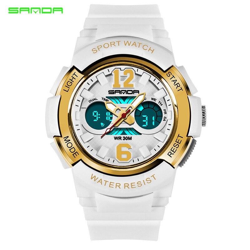 SANDA New Children's Watches Outdoor Sports Children Boys And Girls LED Digital Watch Waterproof Children's Sports Watch