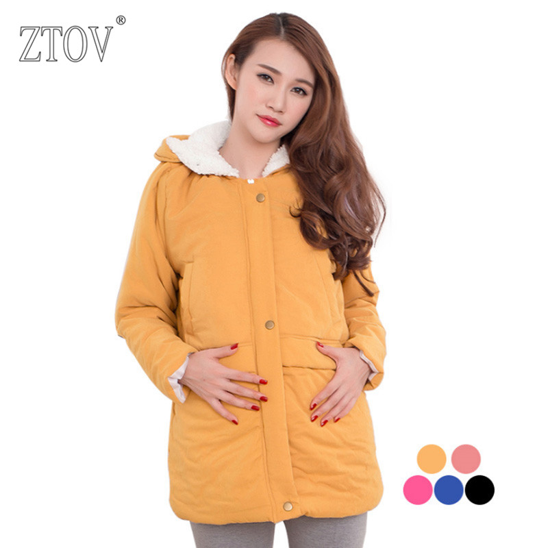ZTOV Winter Maternity Coats Pregnancy Down Jacket Parka Overcoat Clothes for Pregnant women Outwear Thickened Hoodies Clothing christmas maternity clothing pregnancy summer dress for pregnant women elastic knee length gowns vestidos ropa premama clothes