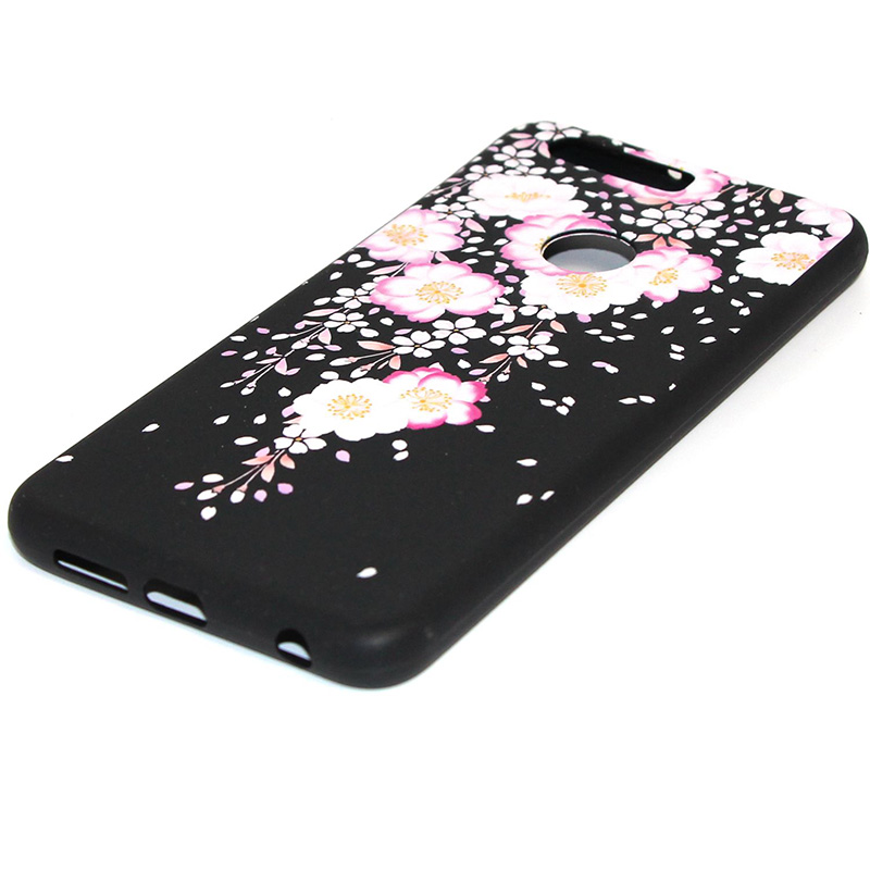 3D Relief flower silicone case huawei honor 8 (16)