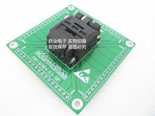 Z klapką QFN64 DIP 9*9mm skok 0 5mm IC spalania siedzenia Adapter testowania miejsce badania testowania gniazd ławce w magazynie tanie tanio Tester kabli JINYUSHI