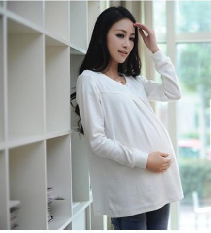 ФОТО 2015, long sleeve maternity new winter coat and hair thickening pregnant women render unlined upper garment