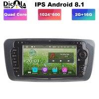 Ips 2 din 2 г Android 8,1 автомобильный мультимедийный DVD плеер стерео для сиденья Ibiza Авто Радио fm gps навигация Wi Fi 4 рулевое колесо BT