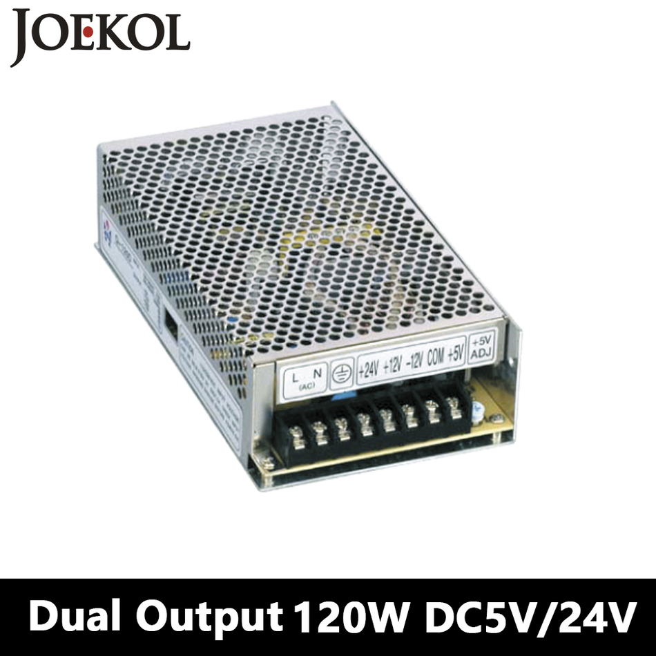 Switching Power Supply 120W 5V 24V,Dual Output Ac-dc Power Supply For Led Strip,voltage Converter 110v/220v To 5V/24V