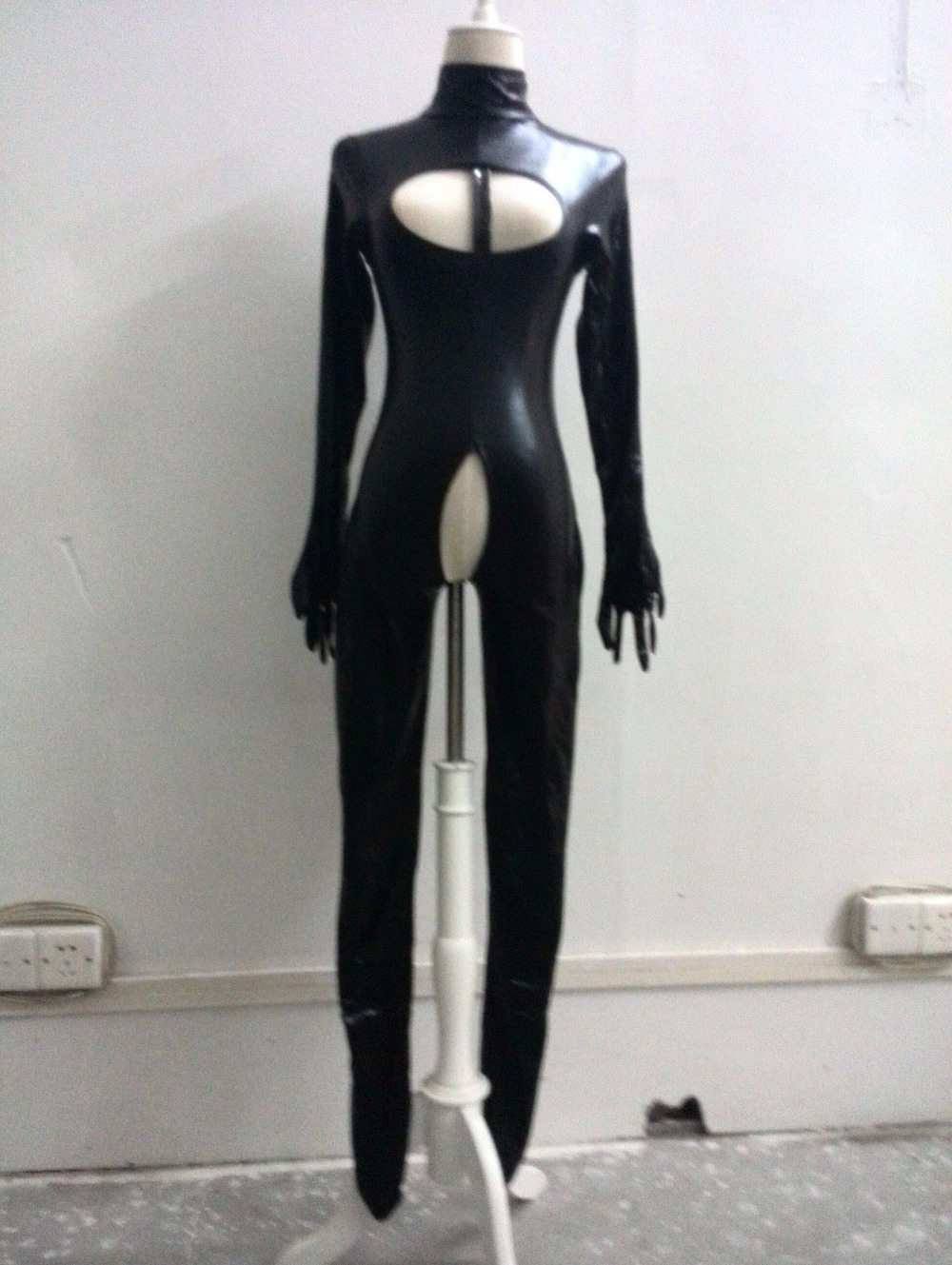 jump suit hot sexy Lingerie Faux Leather PVC Erotic clothing Costumes Open Bust Teddies Bodysuits Corsets Bustiers latex erotic