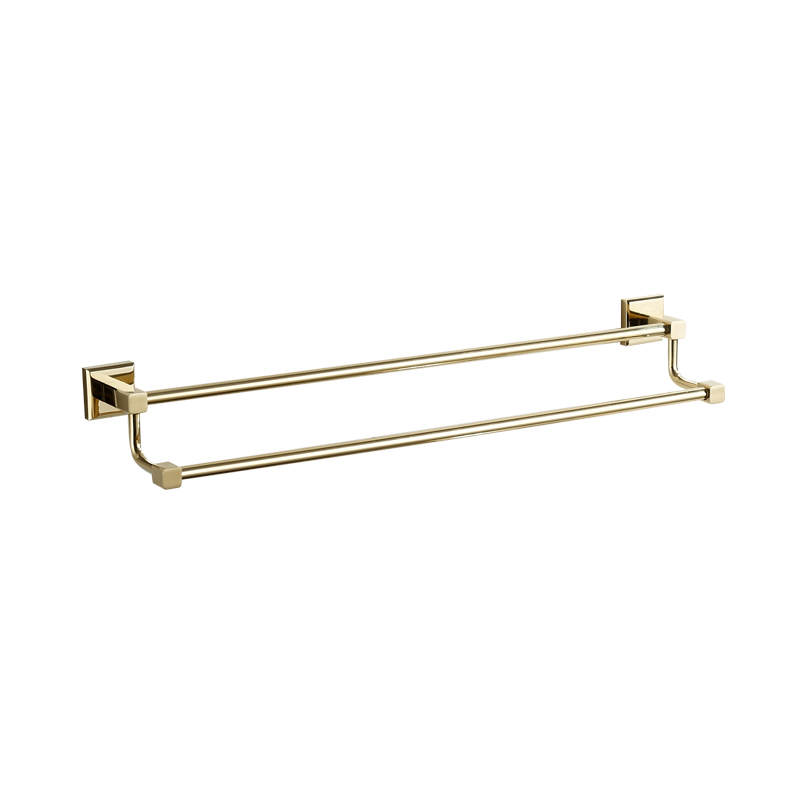 European Antique Towel Rack Simple Copper Double Towel Rack 60cm Wall Mounted Bathroom Racks D1453 the ivory white european super suction wall mounted gate unique smoke door